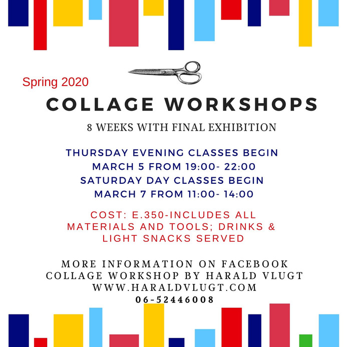 Spring Workshops Begin March 5 &7th