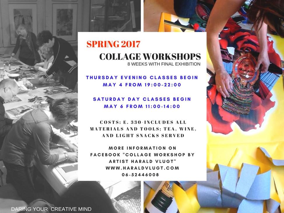 Spring Collage Workshops Beginning
