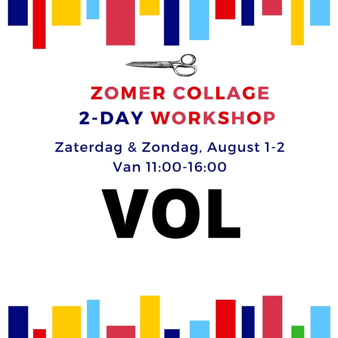 Zomer Workshop August 1-2- VOL