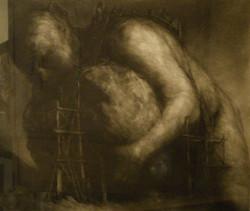 Paul_Rumsey-Sisyphus and Rock 55x75 cm