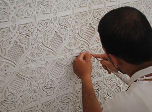 "alt=""plaster masterclass at riad el amine fes"""