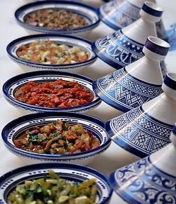 "alt=""moroccan salads in luxury riad in fes"""