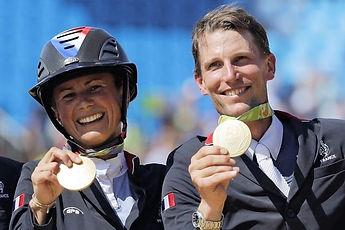 Pénélope Leprévost et Kevin Staut, médaille d'or aux JO de Rio championne olympique de CSO