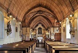 Eglise du Pré d'Auge, Voûte en berceau ogival   Photo    © mairie du Pré d'Auge