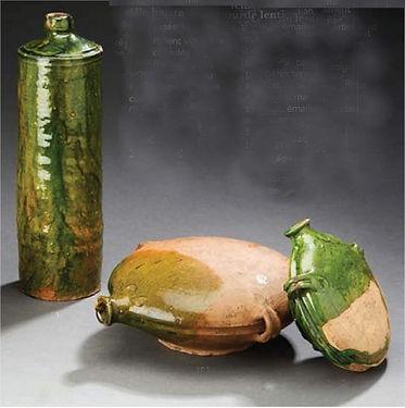 Céramique du Pré d'Auge : bouteille et gourdes