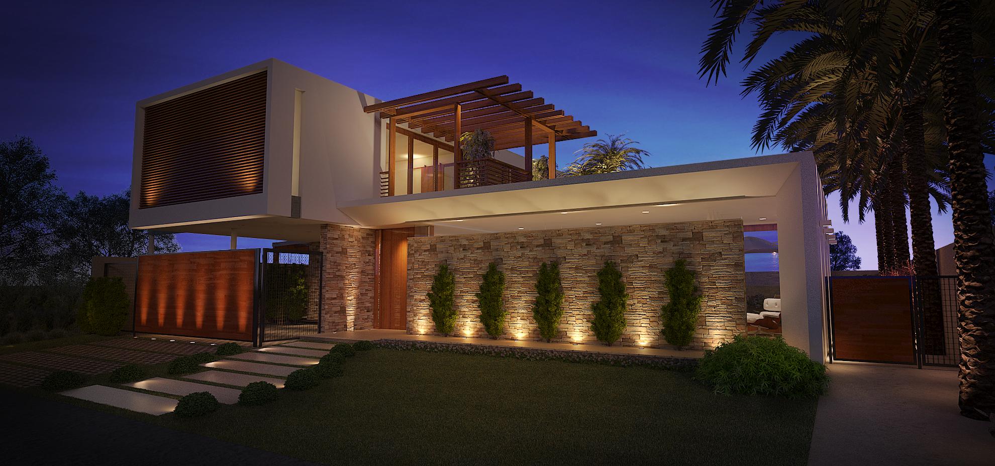 Casa Green Hills - Fachada Frontal
