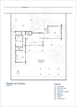 Casa Cachoeira 1a etapa - planta