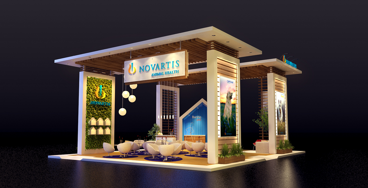 Estande Novartis 120 m²