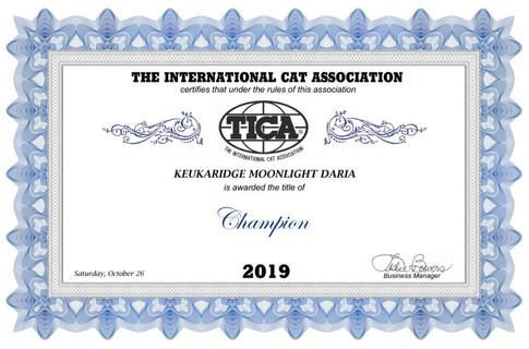 Champion Keuka Ridge Moonlight Daria