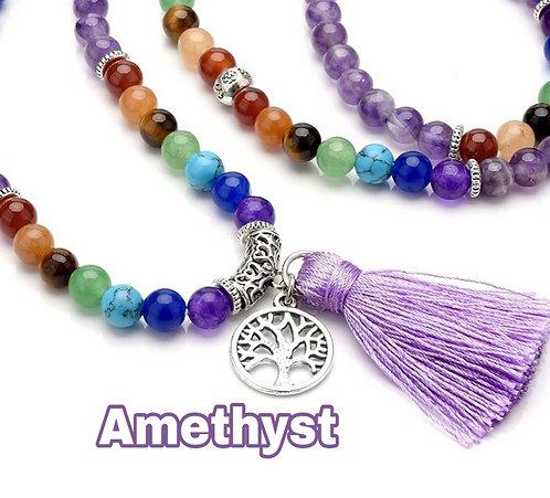 Chakra Mala Prayer Beads 108 For Chants, Meditation & Healing