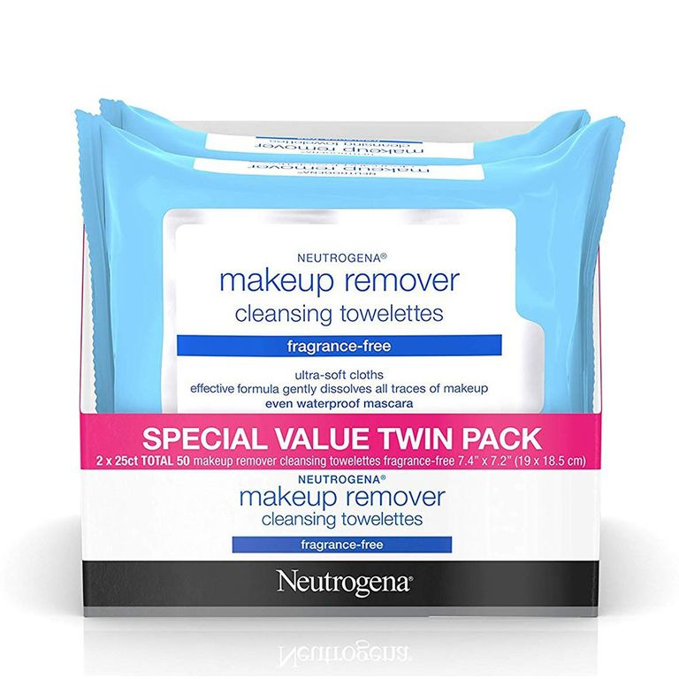 Neutrogena Makeup Remover Facial Wipes, 2-Pack