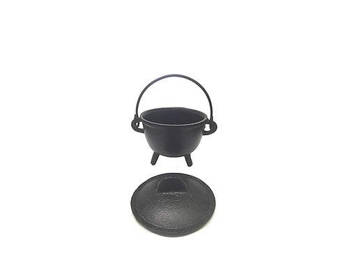 Small Pentagram Cast Iron Cauldron, Fire Safe Bowl