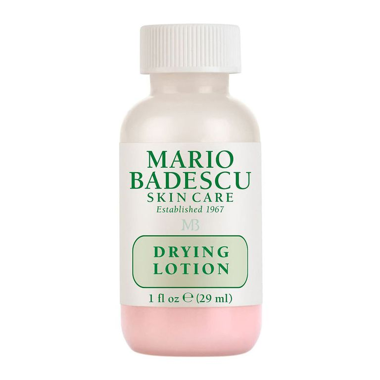 Mario Badescu Drying Lotion amazon.com $17.00 SHOP NOW This small bottle contains a powerful blend of salicylic acid, sulfur, and calamine that's designed to target pimples! Just dab it on before you go to sleep to cut down the lifespan of unwanted blemishes.