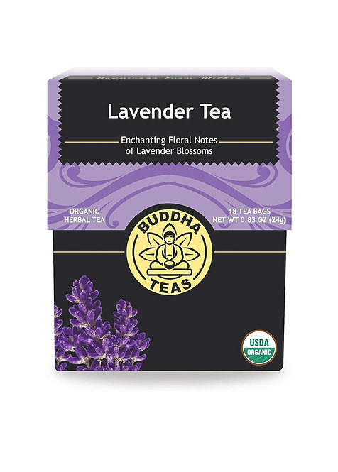 Organic Lavender Tea, 18 Free Tea Bags - Caffeine-Free