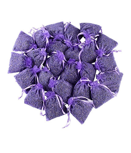 Dried French Lavender Flower Buds - Set of 3 Herb Sachets Bags