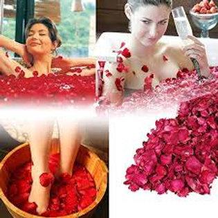 Organic Rose Petals - Dried Rose Petals - Natural Bath Spa