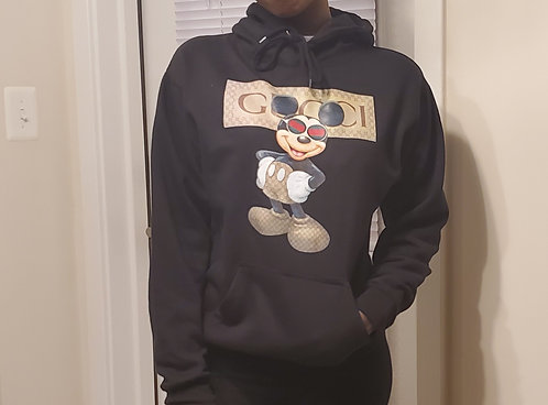 Mickey Mouse Gucci Hooded Sweat Shirt - Shipping Included