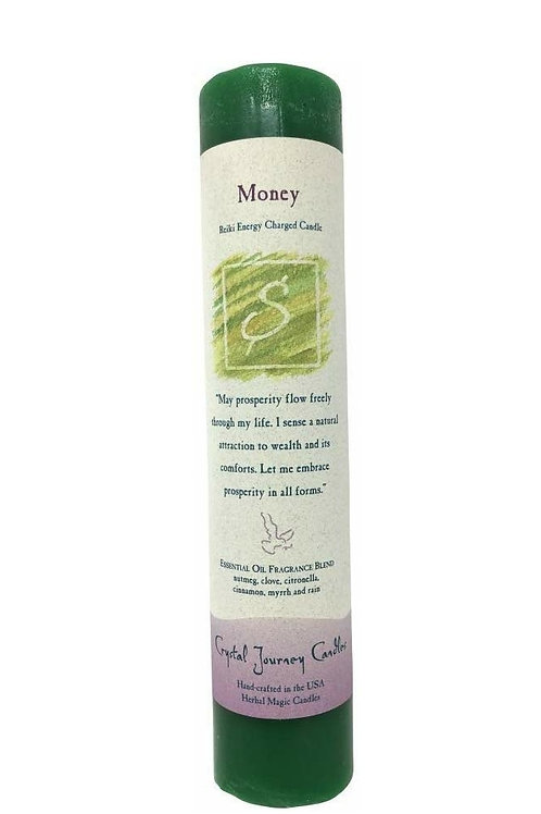"""""""Money"""" Candle For Prosperity And Abundance - 15% Off Sale!"""