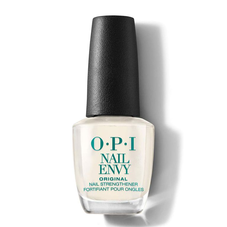 OPI Nail Envy Nail Strengthener amazon.com $17.95 SHOP NOW Nails keep breaking? Ugh, the worst. OPI's Nail Envy puts a stop to it with this clear coat that contains hydrolyzed wheat protein and calcium to help them grow longer and stronger.