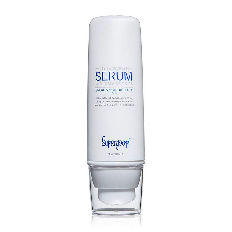 Supergoop! SPF 30 Anti-Aging City Sunscreen Serum amazon.com $28.00 SHOP NOW Finally, a facial sunscreen you won't hate using! This Supergoop! sunscreen serum goes on just like a moisturizer, and it provides anti-aging and sun protection benefits.