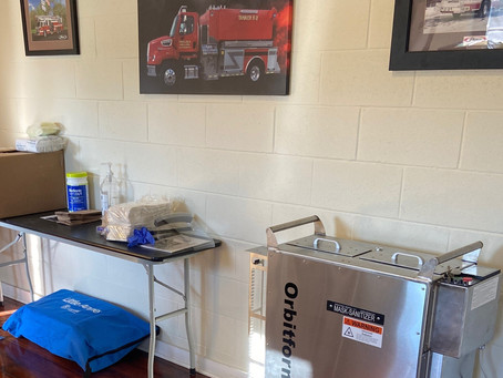 Fire Station installs UVC Decontamination Chamber to Decontaminate and Reuse N95 Respirators