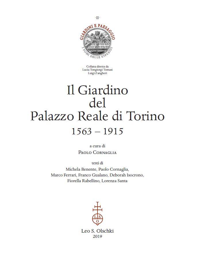 2019 - Il Giardino del Palazzo Reale di Torino