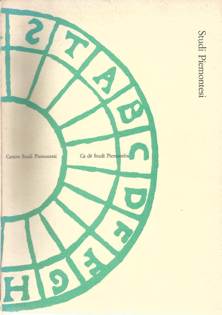 1990 - Studi piemontesi, XIX, marzo