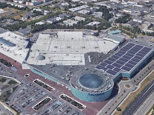 Nantes : Une grande centrale solaire sur le toit du centre commercial Atlantis