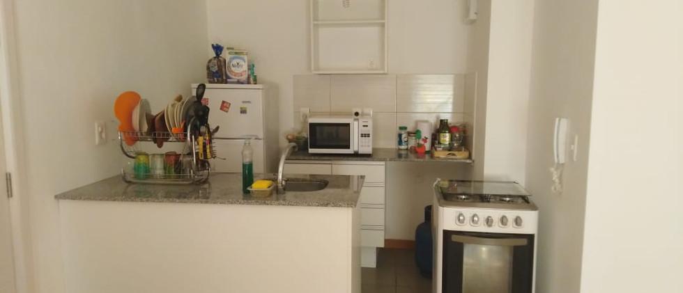 Vista hacia la kitchenette