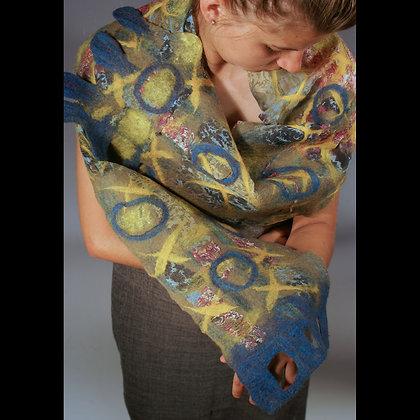 5 hour Nuno Felted scarf