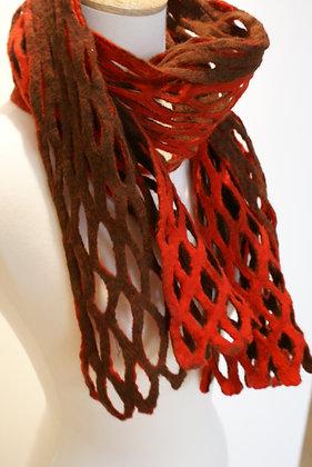Textural merino wool scarf