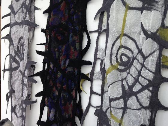 Nuno / wool laminating on silk workshop