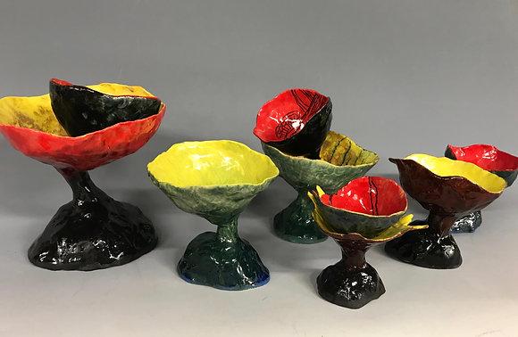 Multicolor Porcelain Mushrooms