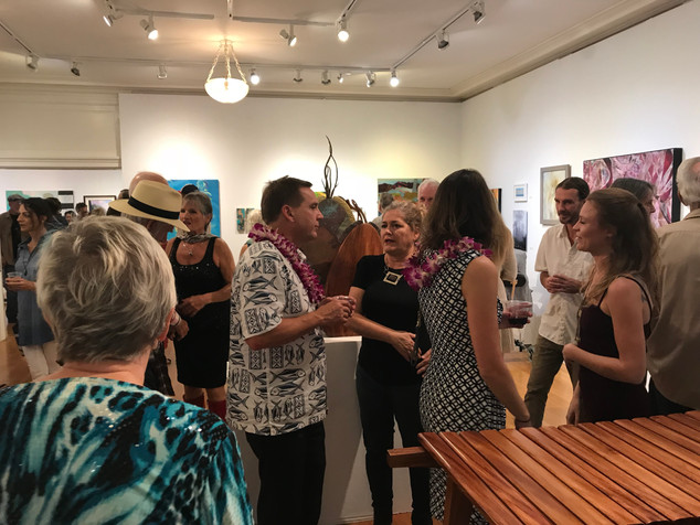 Art Maui exhibition opening