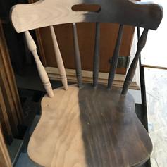 Aérogommage chaise