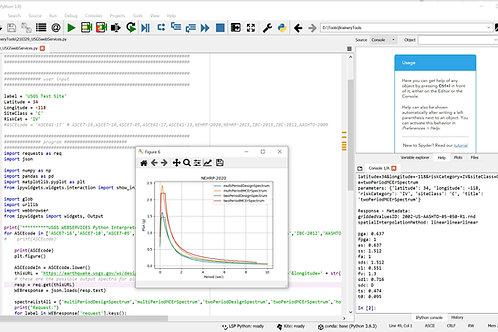 Python Script: USGS WebServices DesignGroundMotions
