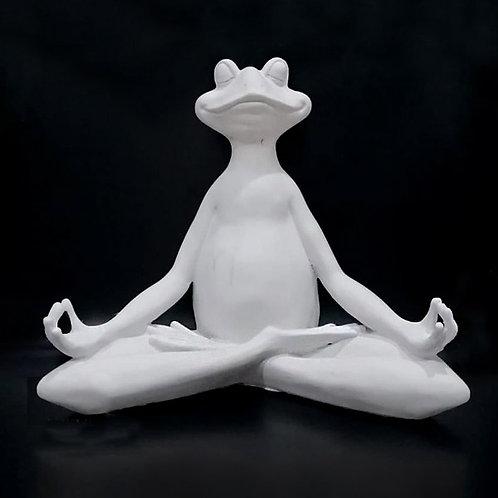 Yogacı Kurbağa - Polyester Heykel