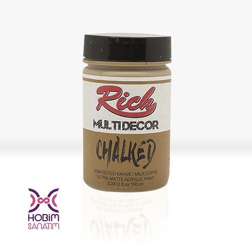 Multi Dekor Chalked - Sütlü Kahve