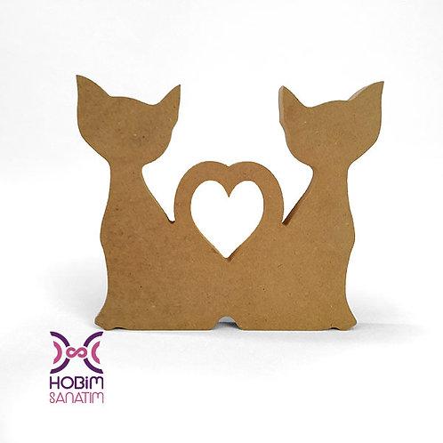 Kalpli İkili Kedi