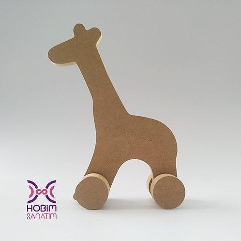 Zürafa Ham Ahşap
