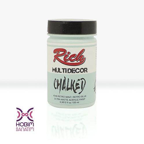 Multi Dekor Chalked - Retro Mavi