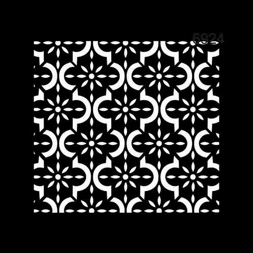 Geometrik Fas Deseni - Stencil 6924