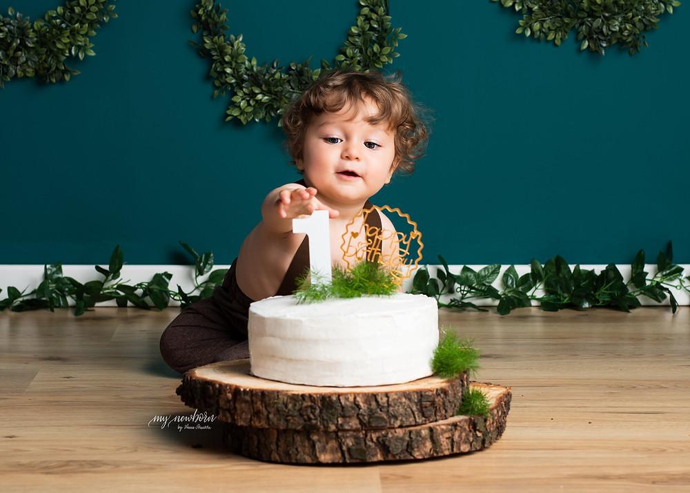 primo compleanno, servizio fotografico smash cake, foto bambini