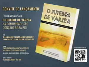 LIVRO E DOCUMENTÁRIO SOBRE FUTEBOL SERÁ LANÇADO DIA 15/12
