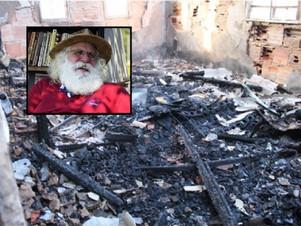 Casa do projeto 'Inclusão Literária' sofre outro incêndio; Papai Noel Pantaneiro pede ajuda