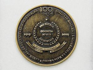 O IHGMT entregou aos seus membros atuantes a medalha referente as comemorações de seu centenário