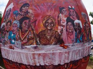 """""""Mata Grossa"""": mural grafitado anuncia documentário sobre mulheres de MT"""