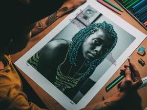 Artistas fazem exposição com ilustrações para questionar falta de negros nas artes