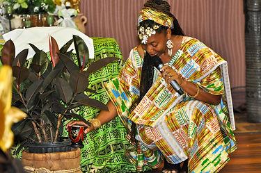 Dr. Akua handling a wedding ceremony