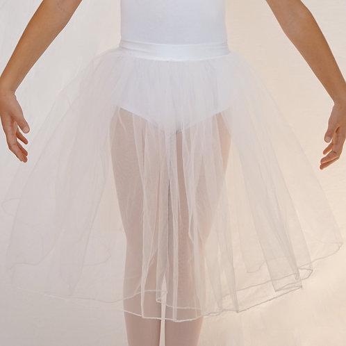 Falda transparente larga